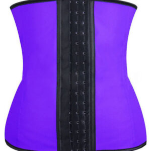 Purple latex waist trainer